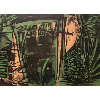Jerry Opper Mid Century Bay Area Abstract Expressionism in Greens For Sale