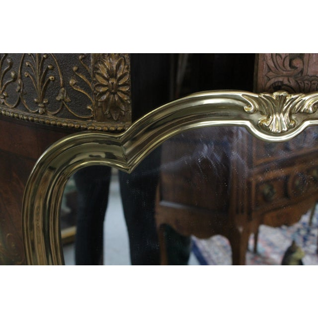 Italian Brass Wall Mirror For Sale - Image 12 of 13