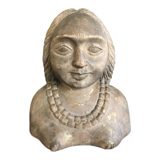 Carved Woman's Bust