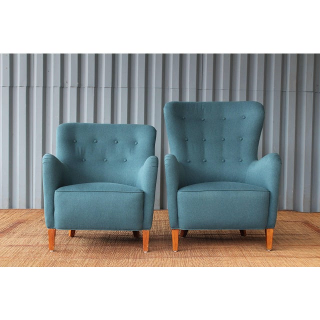Blue Dark Teal Armchair by Ernest Race, 1940s, England For Sale - Image 8 of 9