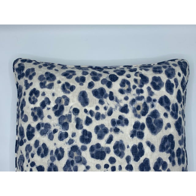 Offered is a stunning pair of newly fabricated 'Panthera' pillows, from Thibaut's 'Bridgehampton' collection. The blue and...