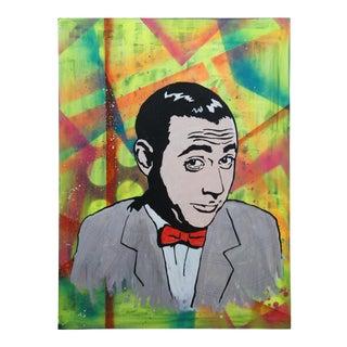 2013 Peewee Herman Pop Art Portrait Mixed-Media Painting For Sale