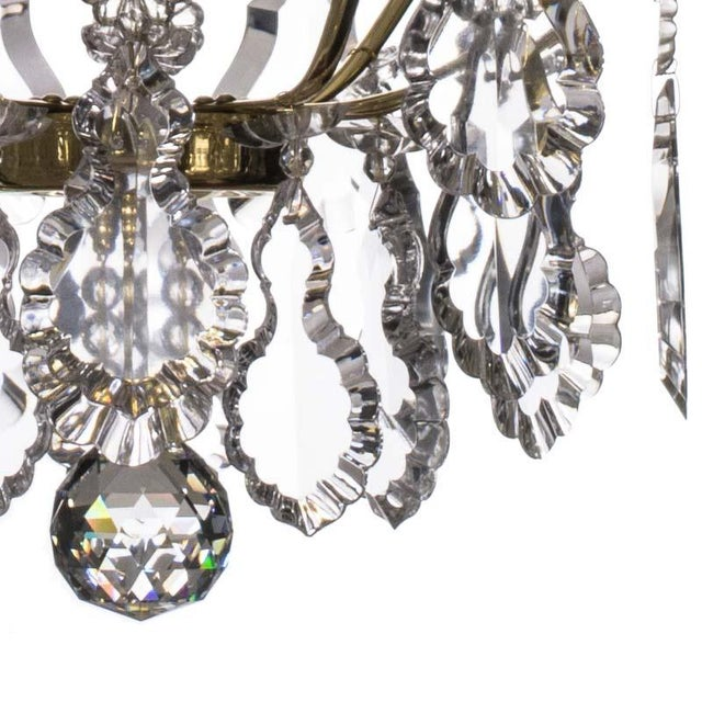 Bathroom Chandelier - Baroque Brass 5 Arm Obelisque Chandelier For Sale - Image 4 of 4