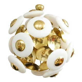 Sculptural Italian Modern Brass and Glass Sputnik Chandelier With 45 Arms For Sale