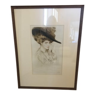 "Paul Cesar Helleu ""Untitled"" Color Drypoint Etching"