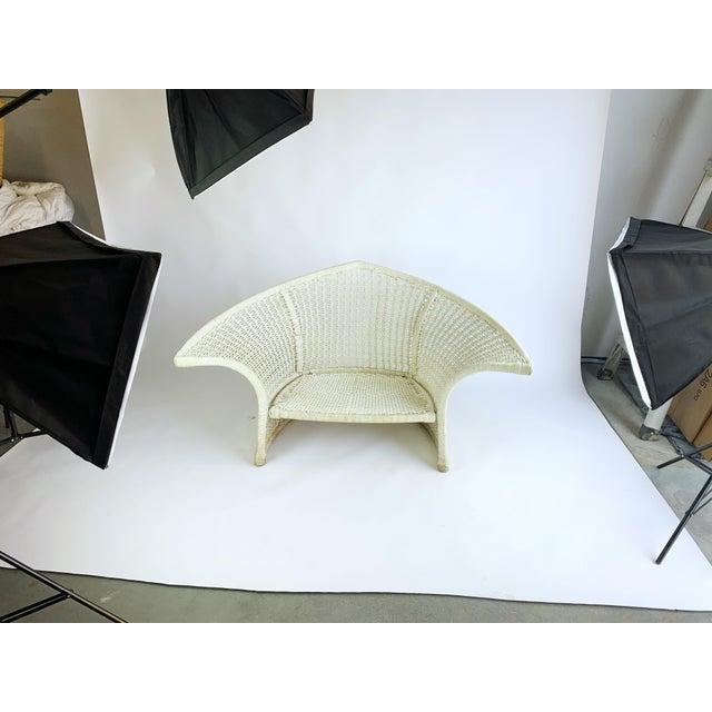 Nautical Vintage Rope Bird Lounge Coastal Chair Aft Bertoia For Sale - Image 3 of 13