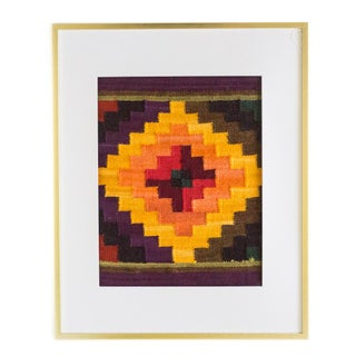 Peruvian Chakana in Gold, Plum, and Olive Wall Hanging / Placemat Preview