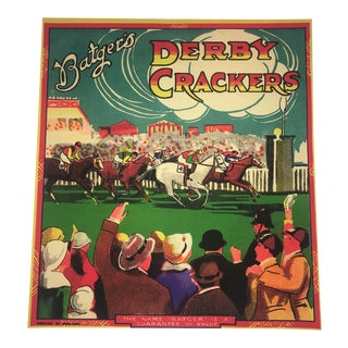 Modern Batger's Derby Crackers Advertising Reproduction Poster For Sale