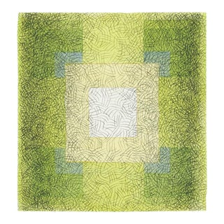 Geometric Watercolor Painting Scribble Series Square 7 For Sale