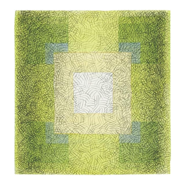 """Scribble Series """"Square 7"""" Watercolor Painting For Sale"""