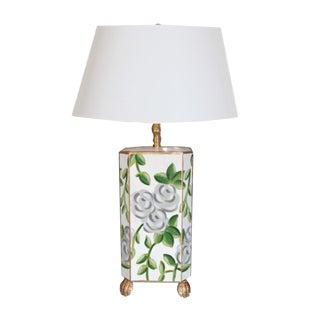 Dana Gibson White Chintz Lamp