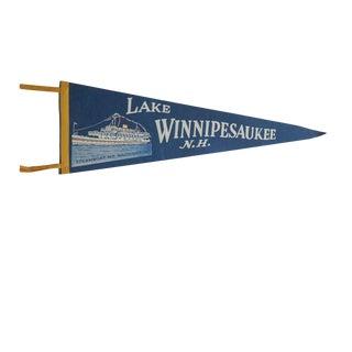 Vintage Lake Winnipesaukee n.h. Felt Flag Pennant