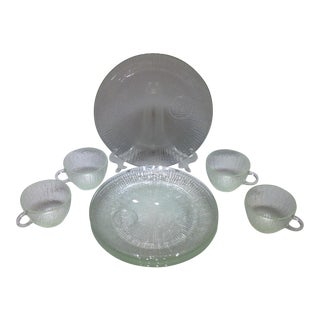 Jeannette Glass Vintage Luncheon Service- Set of 8 For Sale