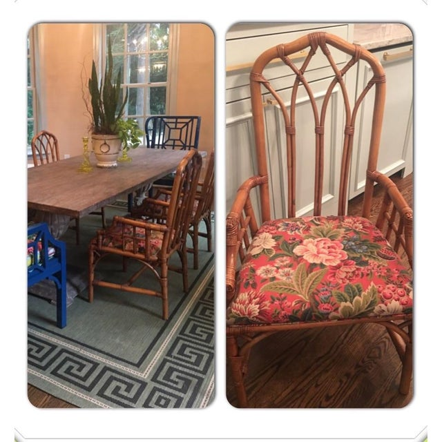 Henry Link Cathedral Rattan Chairs - Set of 4 - Image 3 of 5
