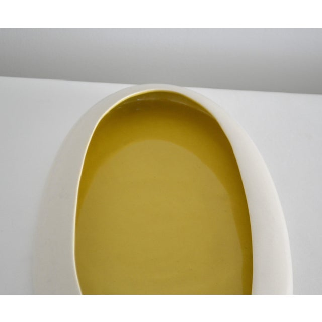 1930s Mid-Century Yellow and White Ceramic Bowl For Sale - Image 9 of 13