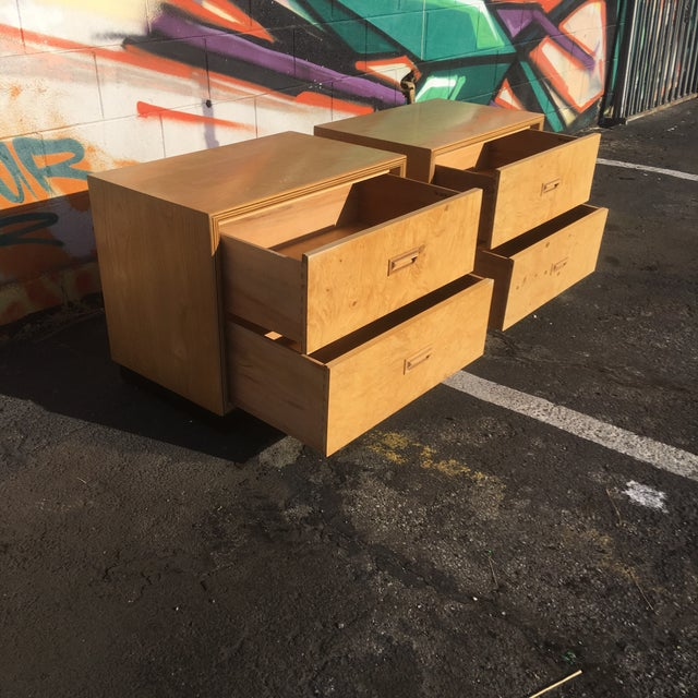 Burlwood Nightstands by Henredon-a Pair For Sale In Los Angeles - Image 6 of 12