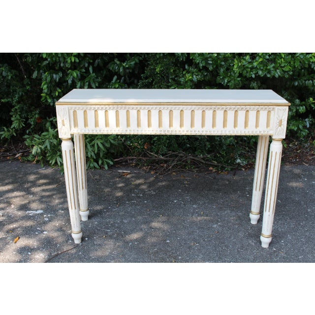 Gold Swedish Console Table For Sale - Image 7 of 7
