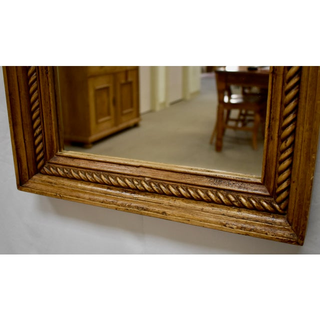2010s Pine Framed Rope Twist Mirror For Sale - Image 5 of 6