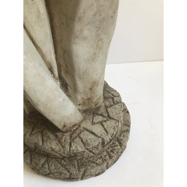 Entwined Couple Cast Stone Statue - Image 3 of 6