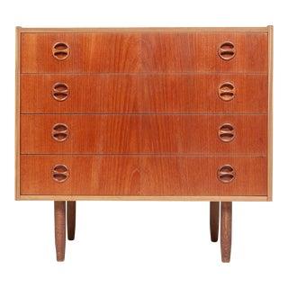1960s Vintage Danish Mid-Century Modern Teak Chest of Drawers For Sale