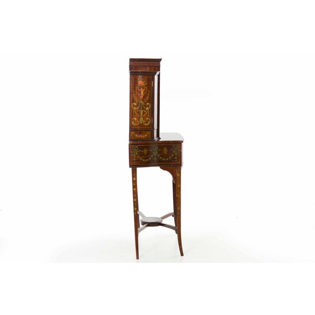 Edwardian Classical Painted Antique Console Cabinet Circa 1860-80 For Sale - Image 4 of 13