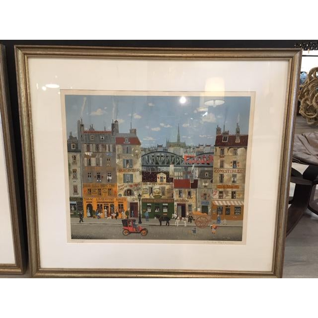 Folk Art Michel Delacroix Lithograph For Sale - Image 3 of 3