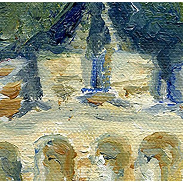 "Illustration Original ""Castle Turret"" Framed Oil Painting by Nancy T. Van Ness For Sale - Image 3 of 13"