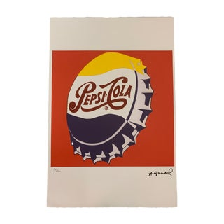 """Edition """"Pepsi Cola Bottle Cap - Red"""" Stone Signed & Numbered Lithograph Print 15 X 23"""" For Sale"""