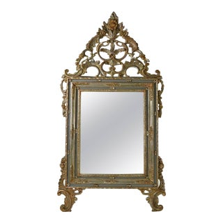 Large Italian Rococo Giltwood Mirror