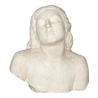 1930s Vintage Augustus Edwin John Edith Ashley Bust of Woman Sculpture For Sale