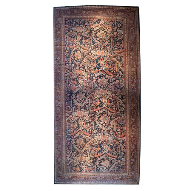 """19th Century Sultanabad Carpet - 9'5"""" x 18'3"""" For Sale"""