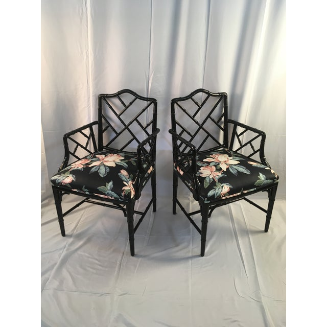 Century Furniture Chinese chippendale lacquer chairs! In nearly unused condition, these are stunning and current for...