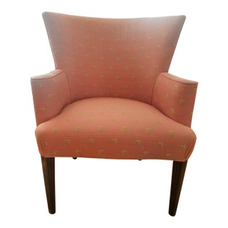 Mid-Century Scalamandre Fabric Arm Chair For Sale
