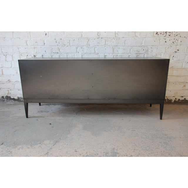 Paul McCobb Planner Group Mid-Century Modern Ebonized Low Credenza For Sale - Image 9 of 11