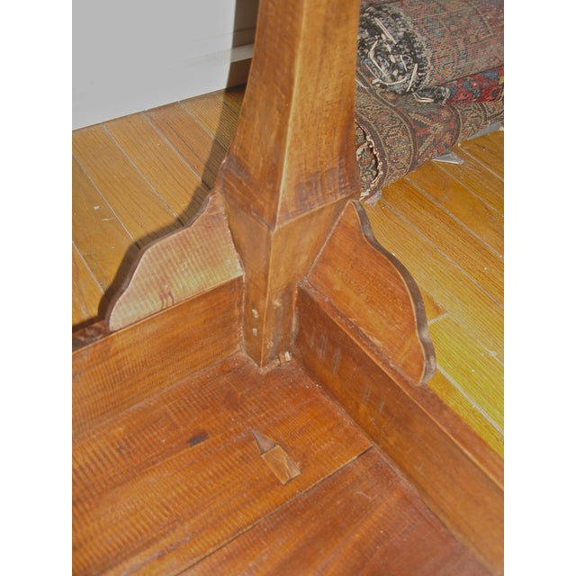 Handcrafted Antique Plank Top Sofa/Console Table - Image 9 of 10