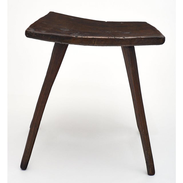 Walnut Italian Farm Wood Side Table For Sale - Image 7 of 10