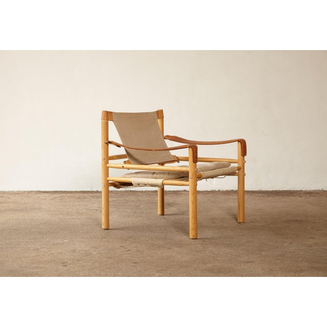 Arne Norell 1970s Mid-Century Modern Arne Norell Safari Sirocco Lounge Chair For Sale - Image 4 of 12
