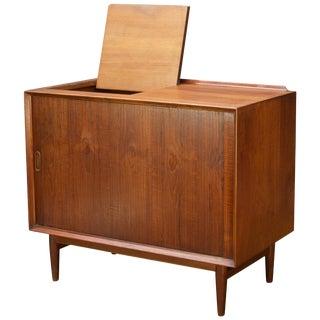 Arne Vodder Hifi Cabinet Teak Tambour Petite Stereo Credenza Danish Midcentury For Sale