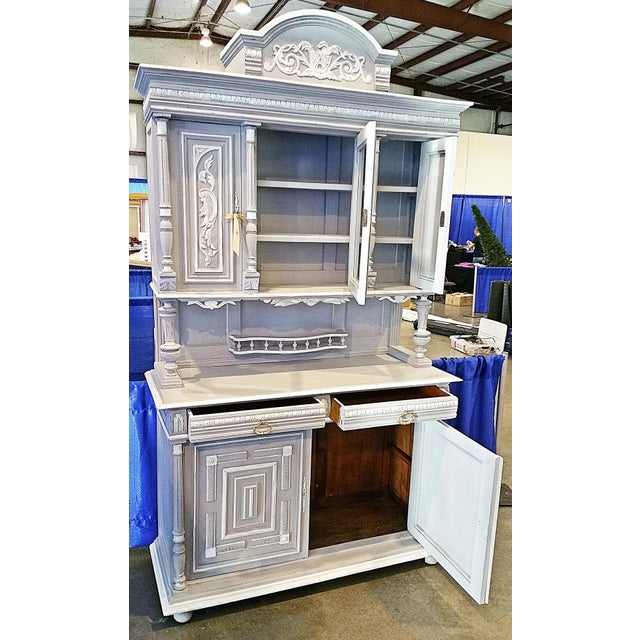 Antique French Painted Hutch For Sale - Image 5 of 11