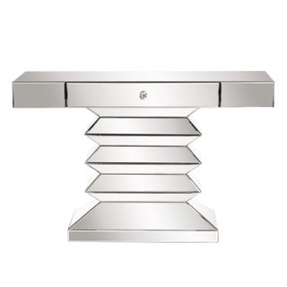 Mirrored Console Table With Drawer