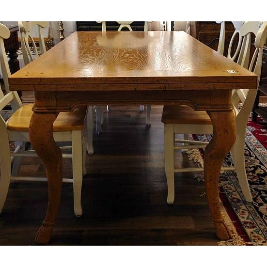 Modern Cabriole Leg Dining Table - Image 4 of 4