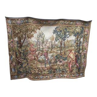 1930s Vintage French Wall Hanging Tapestry For Sale