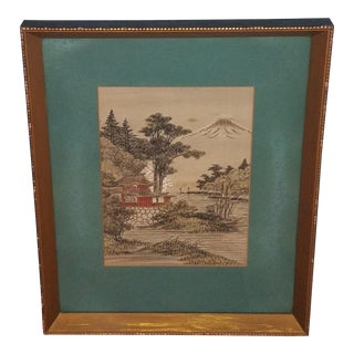 Japanese Silk Framed Art