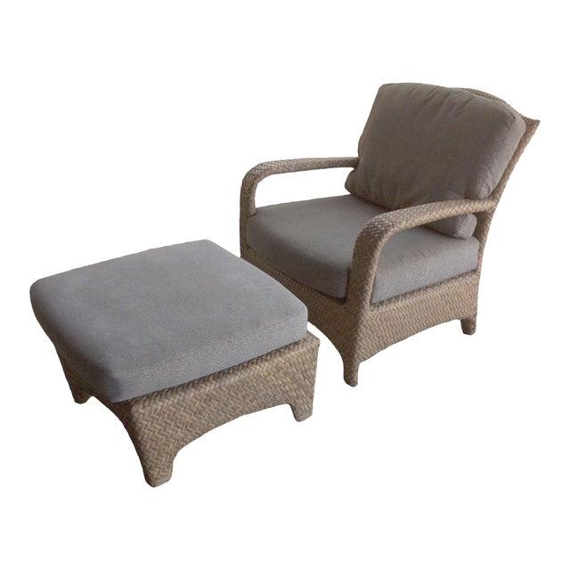 Brown Jordan Havana Outdoor Lounge Chair & Ottoman For Sale