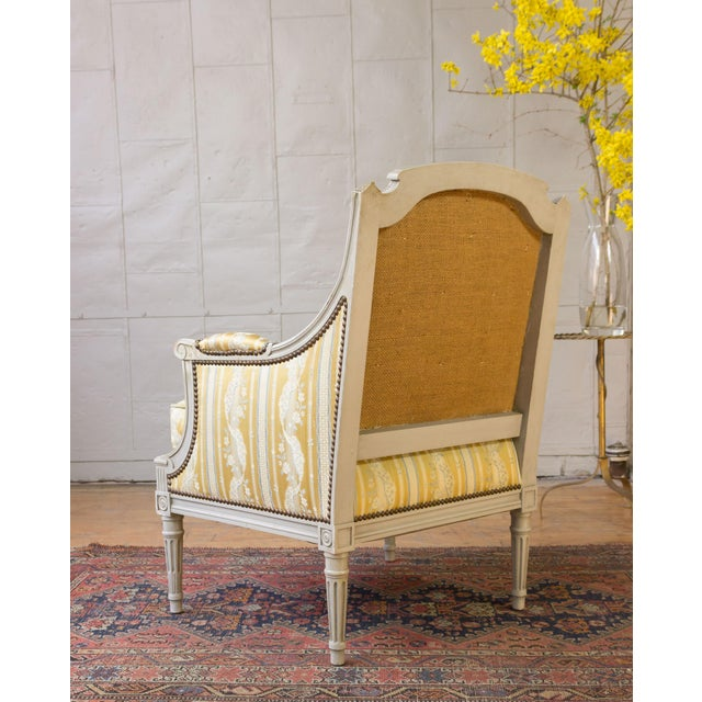 Pair of French Louis XVI Style Armchairs For Sale - Image 11 of 12