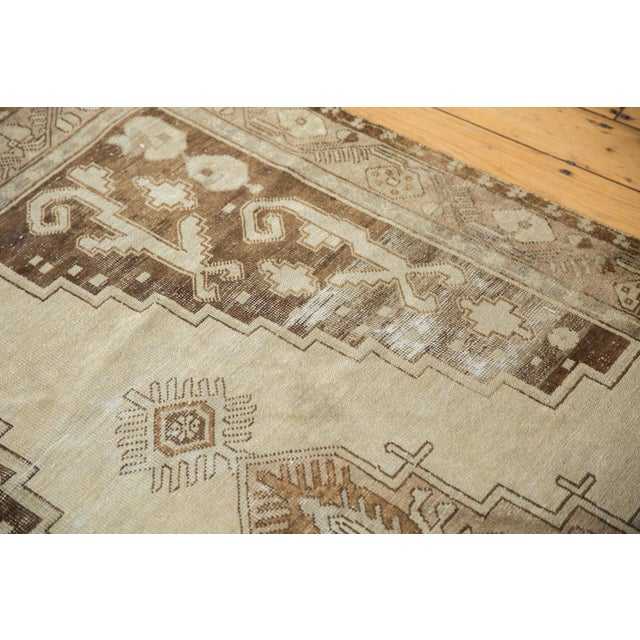 "Vintage Distressed Oushak Rug Runner - 4'9"" x 10'2"" For Sale In New York - Image 6 of 11"
