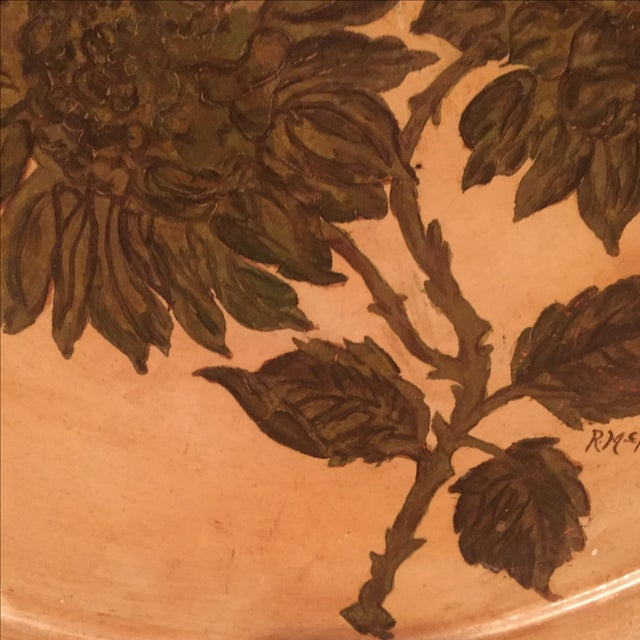 Antique Etched Cream & Gold Tole Tray - Image 7 of 7
