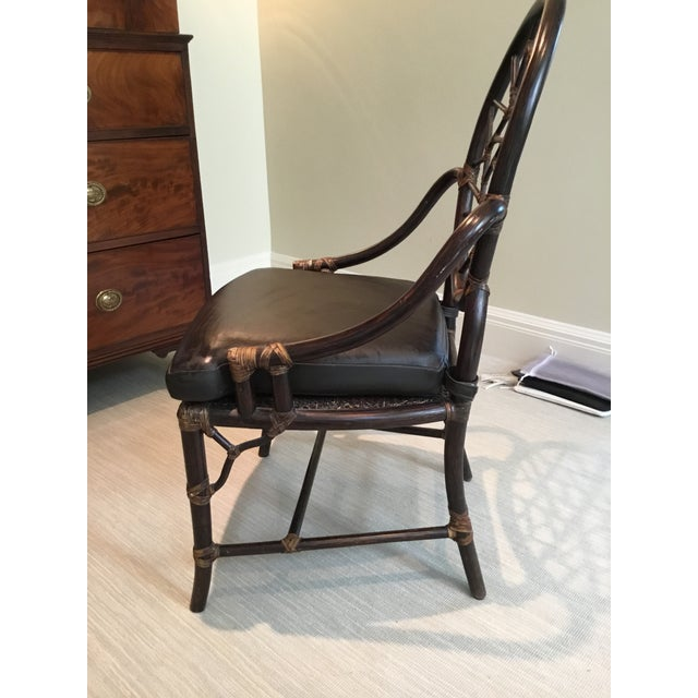 Brown Maguire Crackled Ice Chairs - Set of 4 For Sale - Image 8 of 8