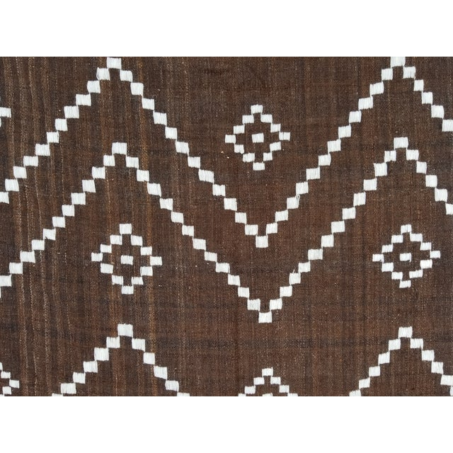 Hand Woven Wool Bed Cover For Sale - Image 4 of 8