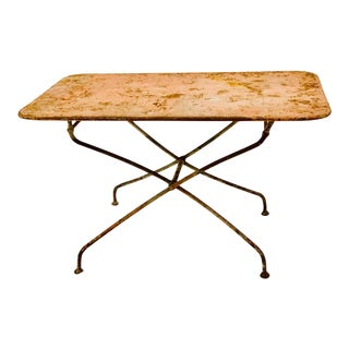 1930s French Metal Garden Table For Sale